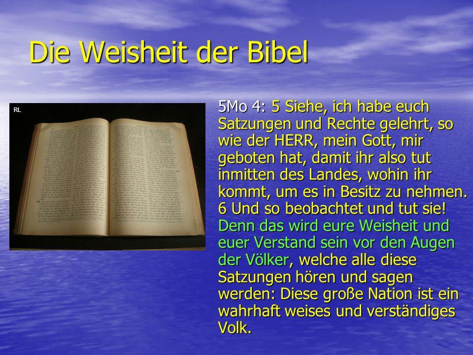 Die Weisheit der Bibel