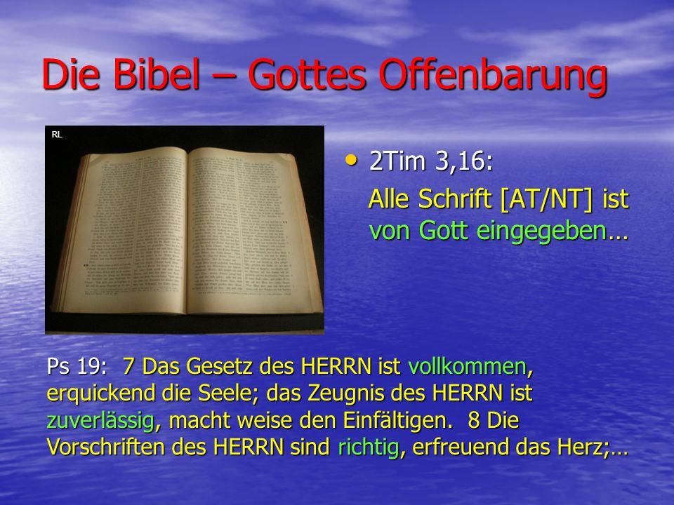 Die Bibel – Gottes Offenbarung