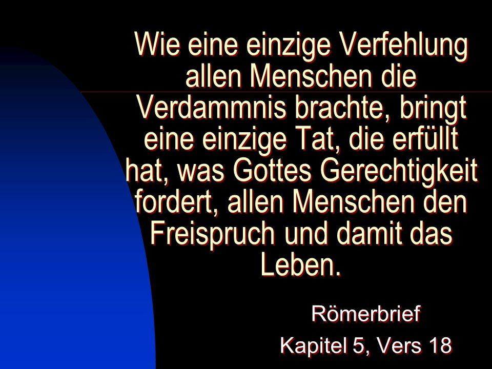 Römerbrief Kapitel 5, Vers 18