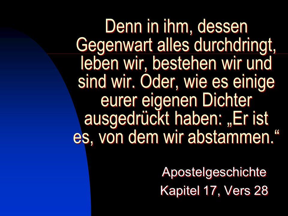 Apostelgeschichte Kapitel 17, Vers 28