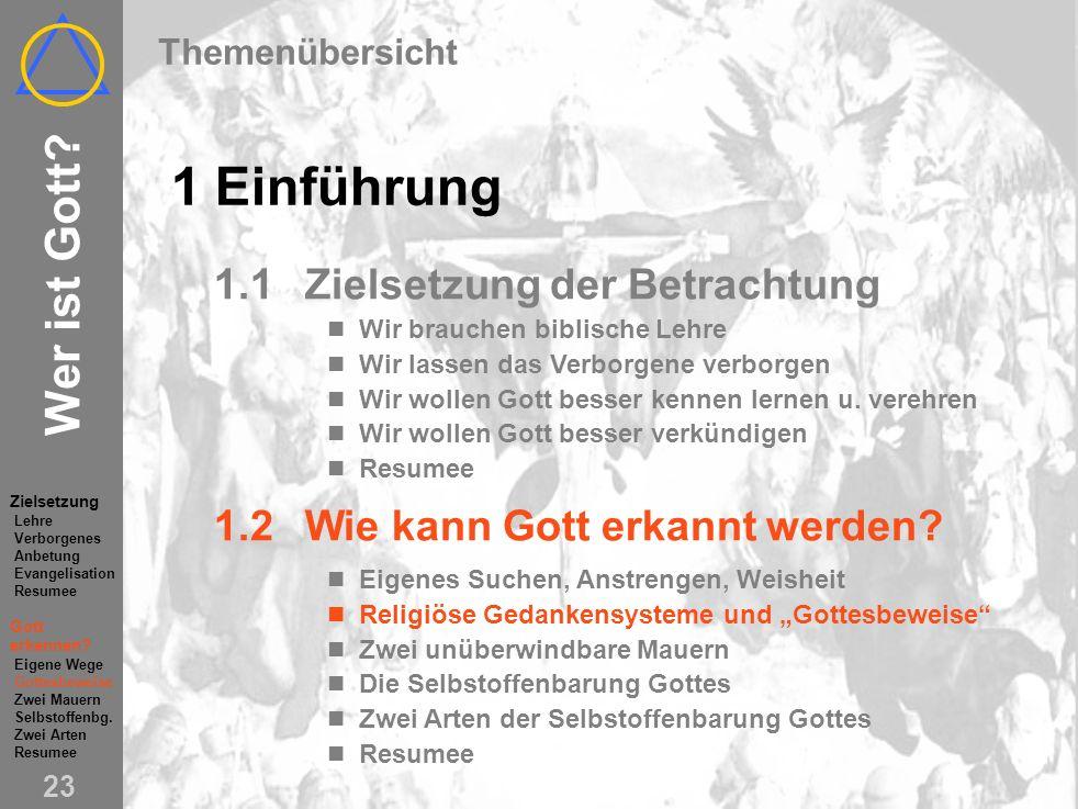 Wer ist Gott (1) Einführung