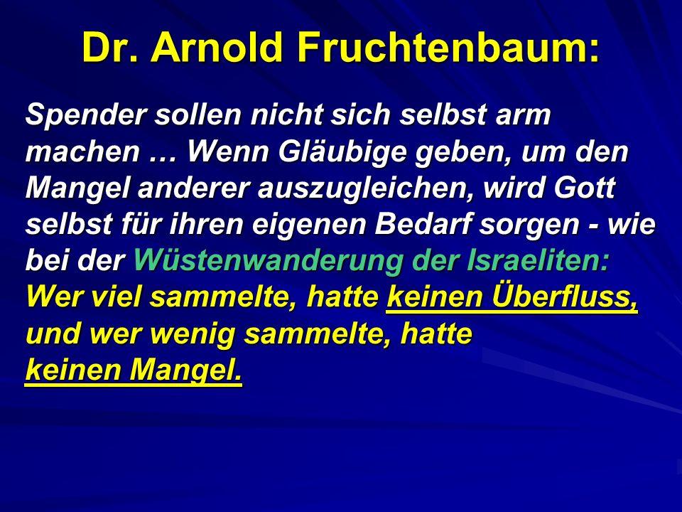 Dr. Arnold Fruchtenbaum: