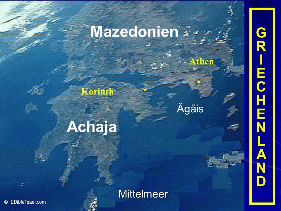 Mazedonien Achaja GR I ECHENLAND Ägäis Mittelmeer Athen Korinth