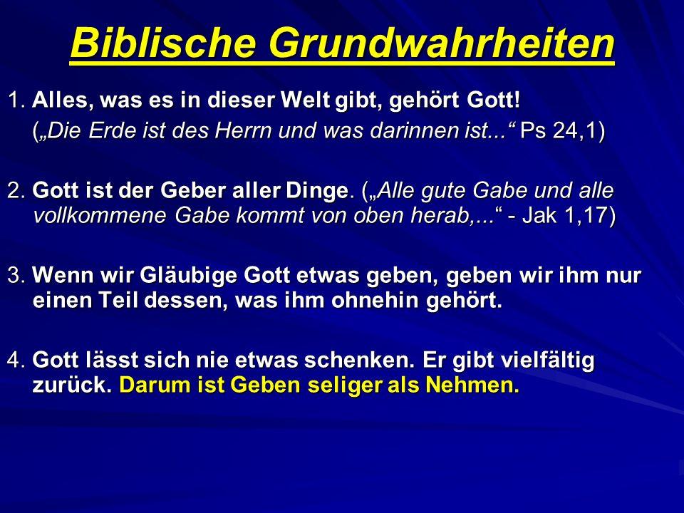 Biblische Grundwahrheiten