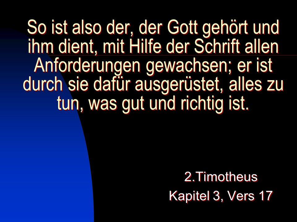2.Timotheus Kapitel 3, Vers 17