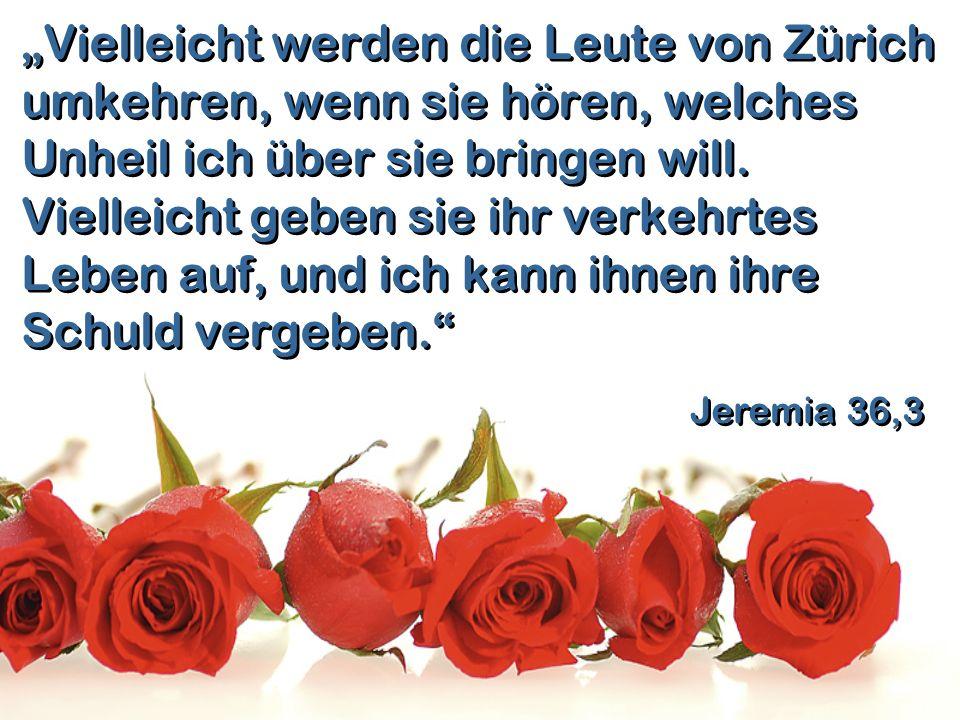 """""""Vielleicht werden die Leute von Zürich umkehren, wenn sie hören, welches Unheil ich über sie bringen will. Vielleicht geben sie ihr verkehrtes Leben auf, und ich kann ihnen ihre Schuld vergeben."""