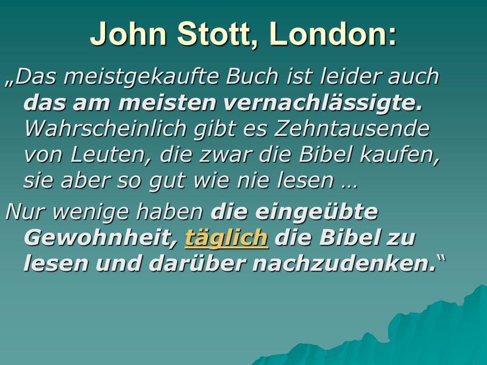 John Stott, London: