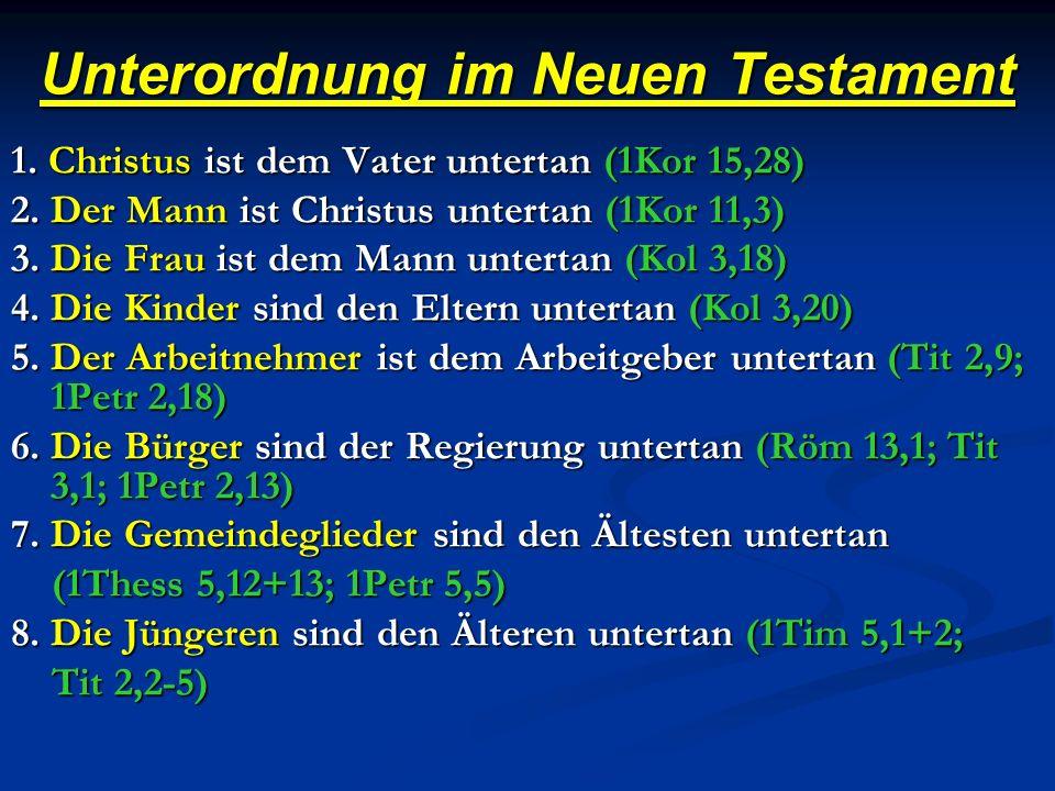 Unterordnung im Neuen Testament