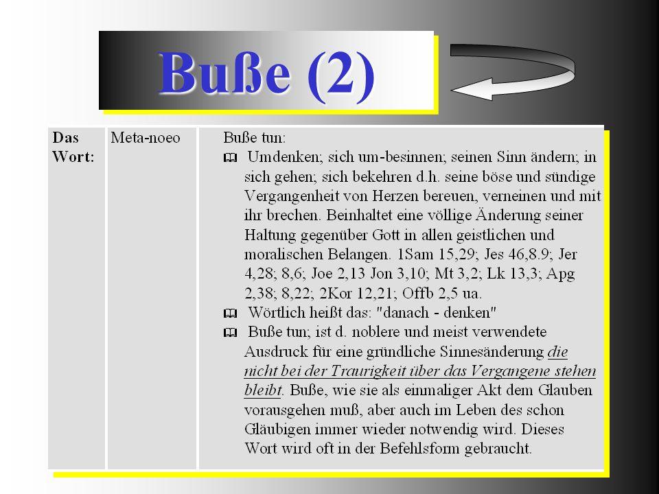 Buße (2)