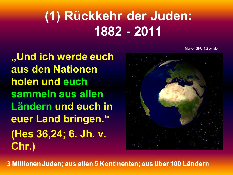 Rückkehr der Juden: 1882 - 2011 Marvel GNU 1.2 or later.