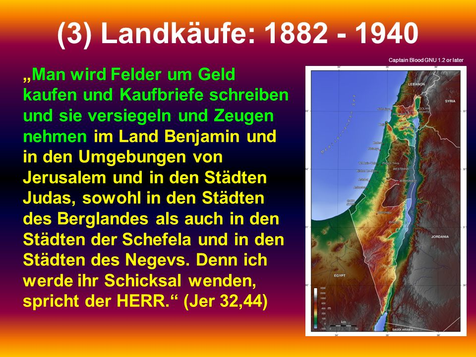 (3) Landkäufe: 1882 - 1940 Captain Blood GNU 1.2 or later.
