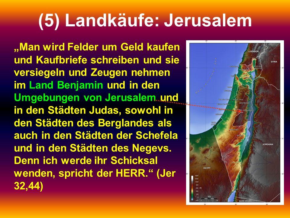 (5) Landkäufe: Jerusalem