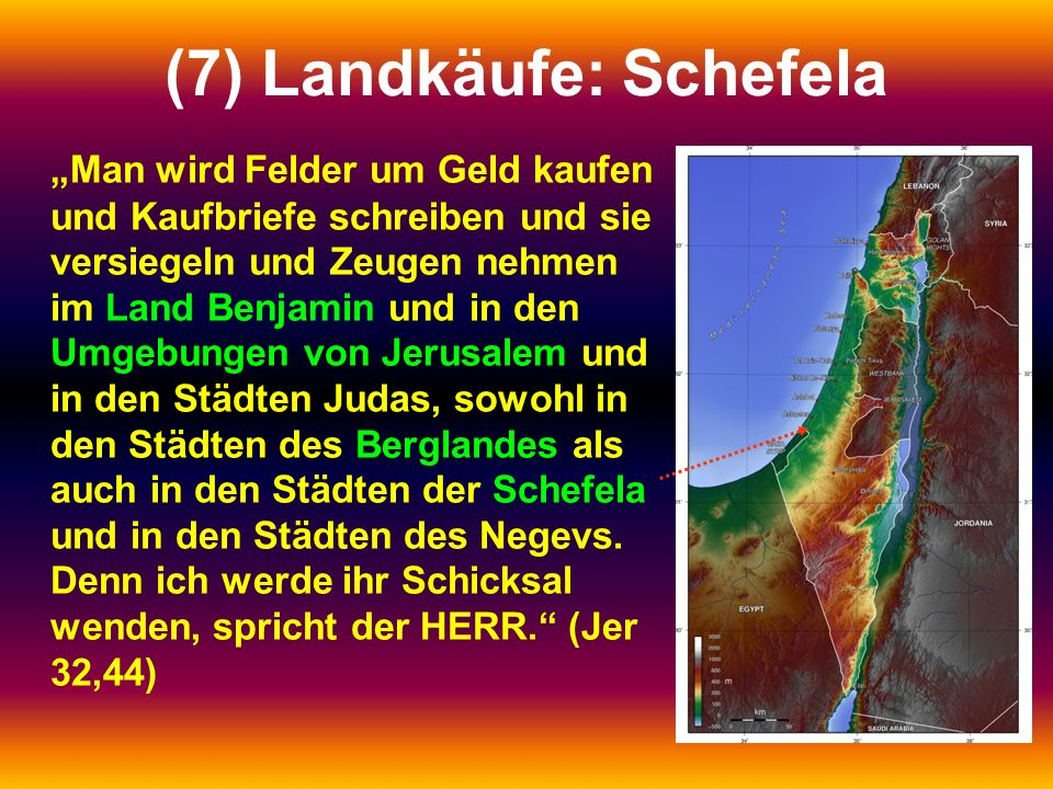 (7) Landkäufe: Schefela
