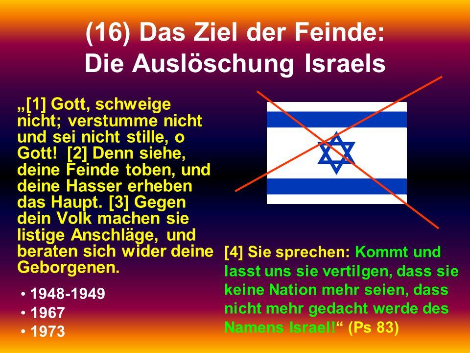 (16) Das Ziel der Feinde: Die Auslöschung Israels