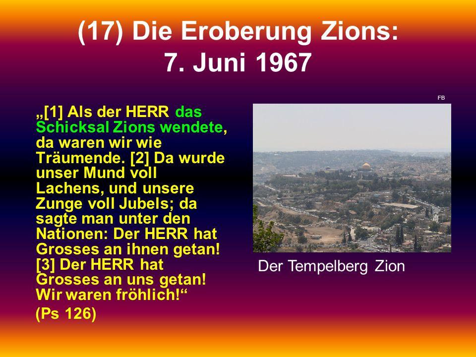 (17) Die Eroberung Zions: 7. Juni 1967