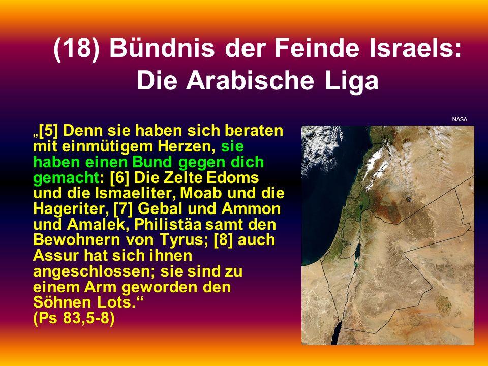 (18) Bündnis der Feinde Israels: Die Arabische Liga