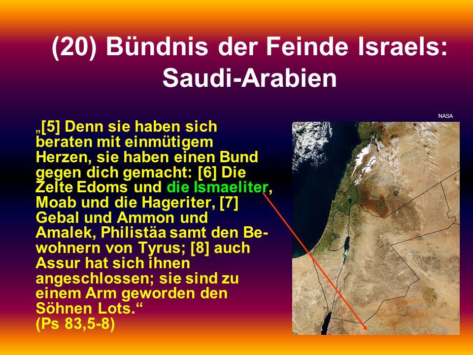 (20) Bündnis der Feinde Israels: Saudi-Arabien