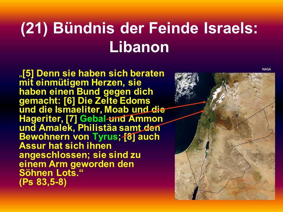 (21) Bündnis der Feinde Israels: Libanon
