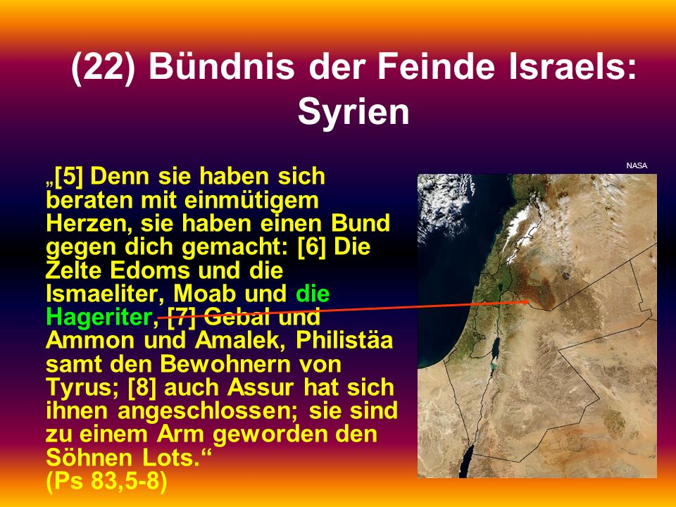 (22) Bündnis der Feinde Israels: Syrien