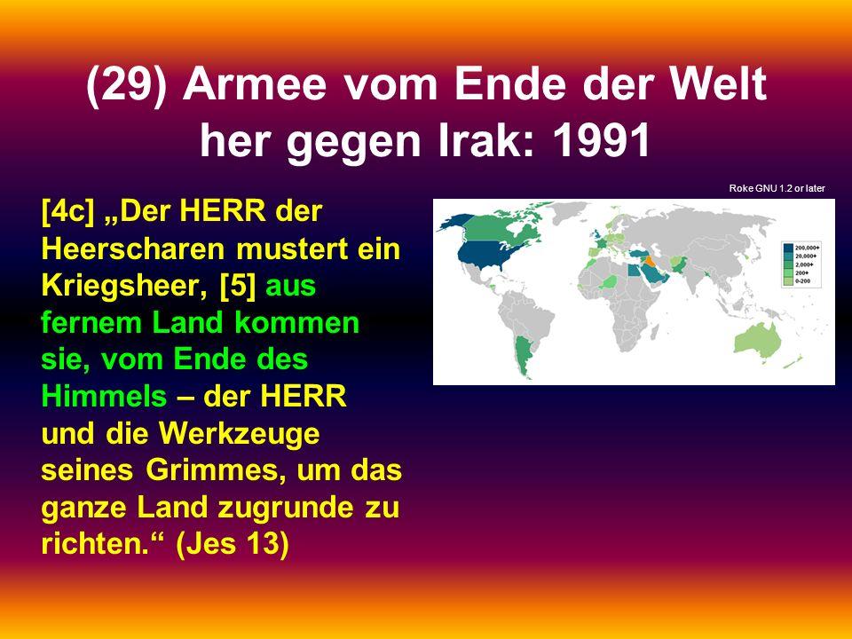 (29) Armee vom Ende der Welt her gegen Irak: 1991