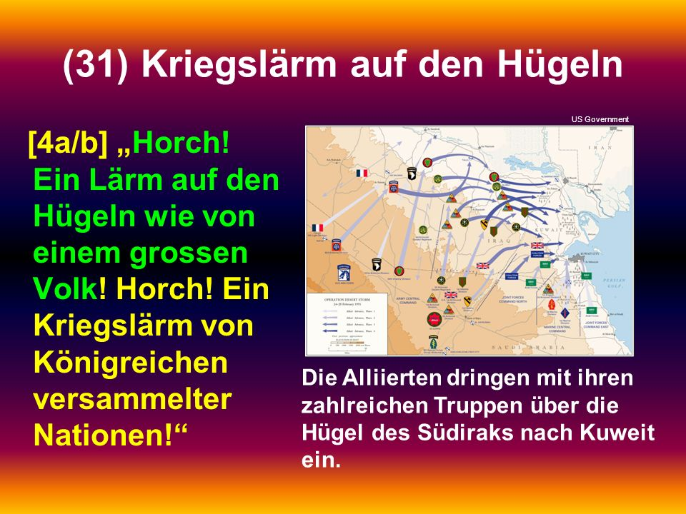 (31) Kriegslärm auf den Hügeln