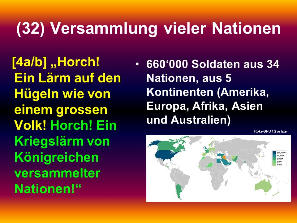 (32) Versammlung vieler Nationen