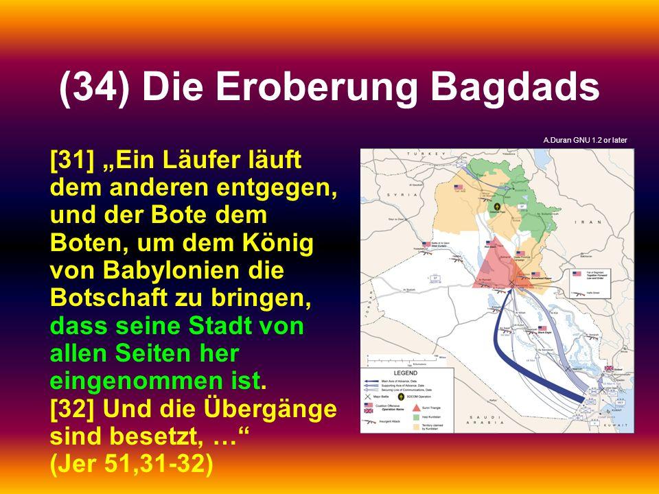 (34) Die Eroberung Bagdads