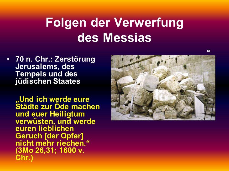Folgen der Verwerfung des Messias