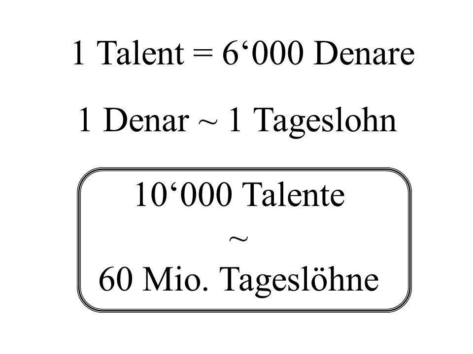 10'000 Talente ~ 60 Mio. Tageslöhne