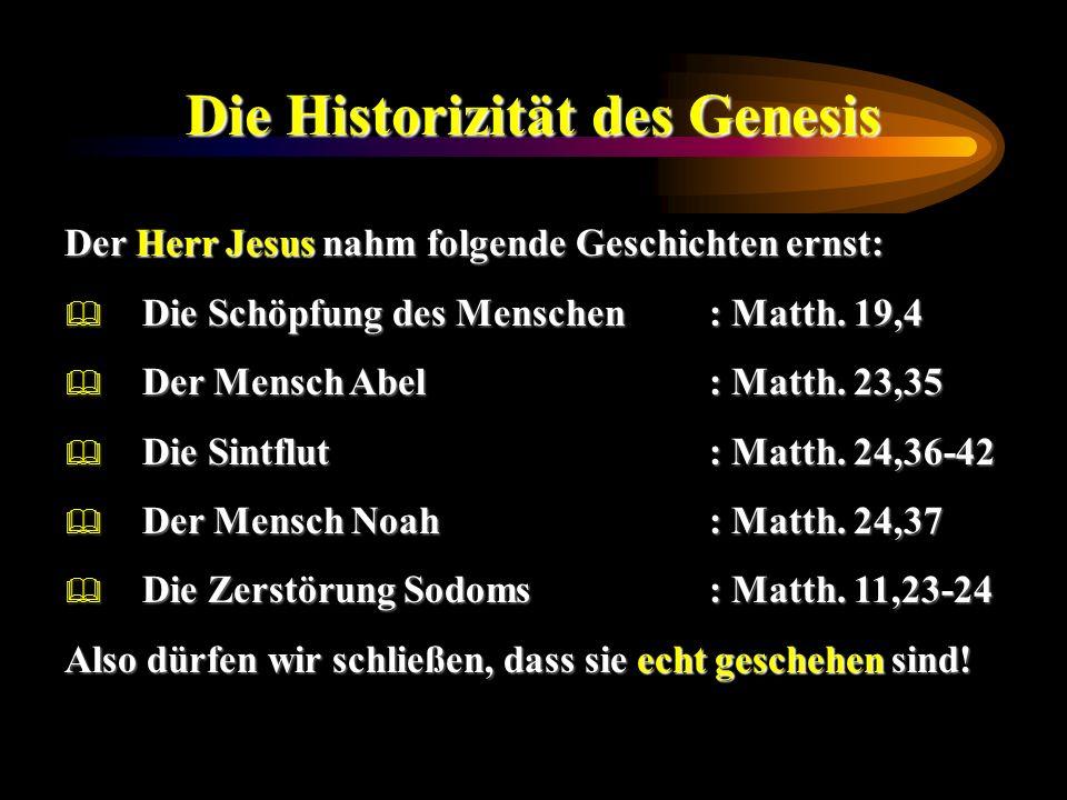 Die Historizität des Genesis