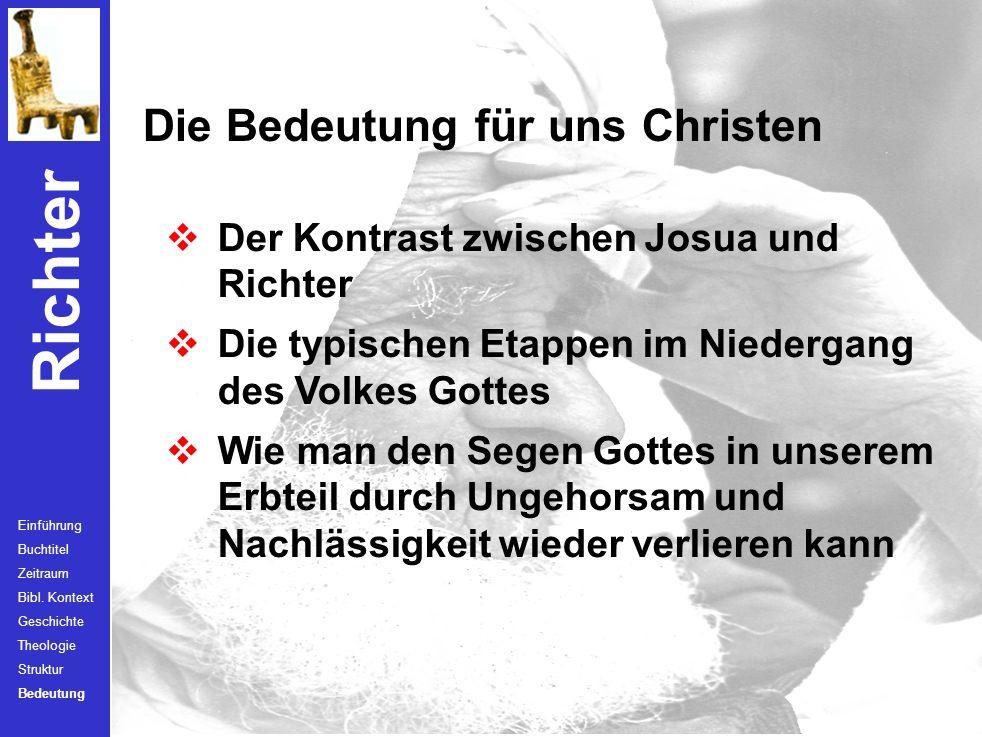 Die Bedeutung für uns Christen