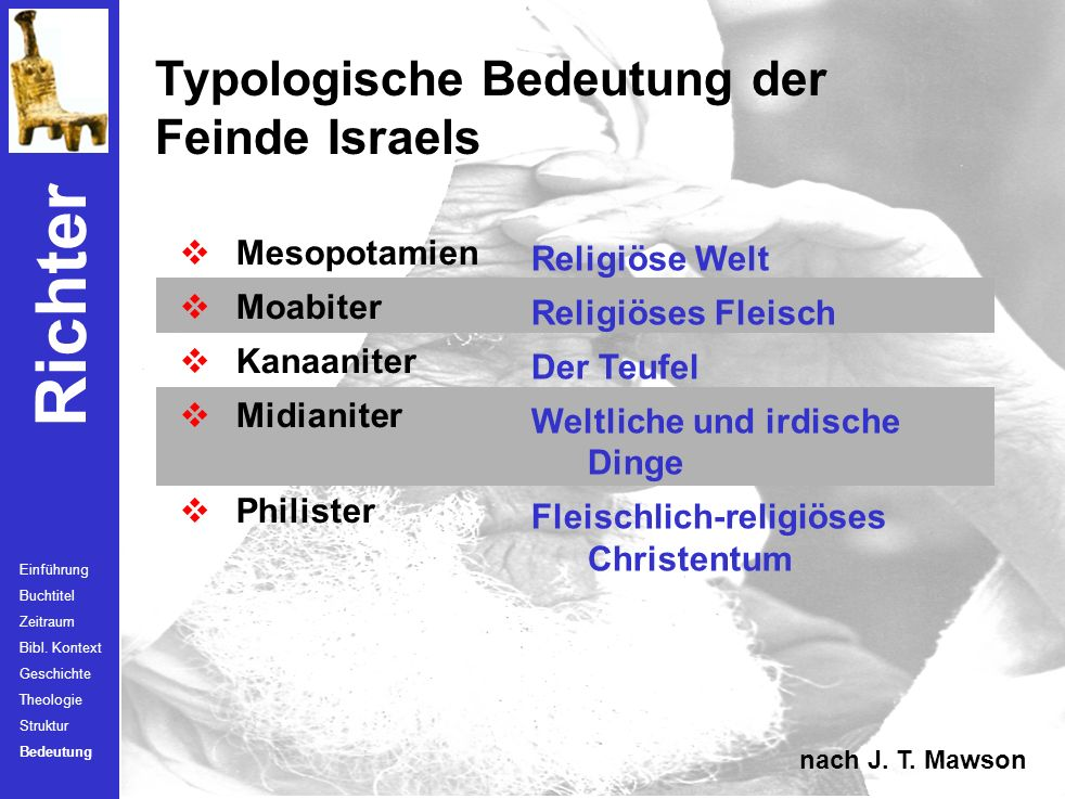 Typologische Bedeutung der Feinde Israels