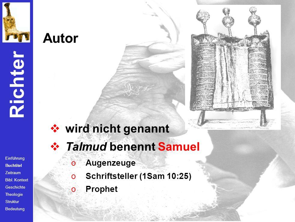 Autor wird nicht genannt Talmud benennt Samuel Augenzeuge