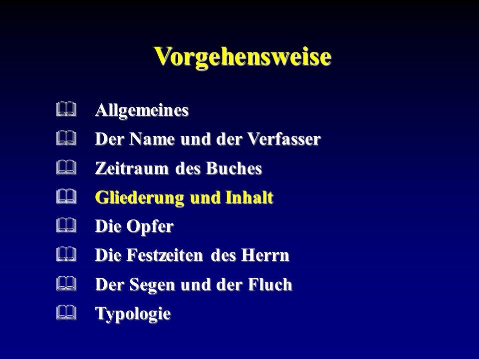 Vorgehensweise Allgemeines Der Name und der Verfasser