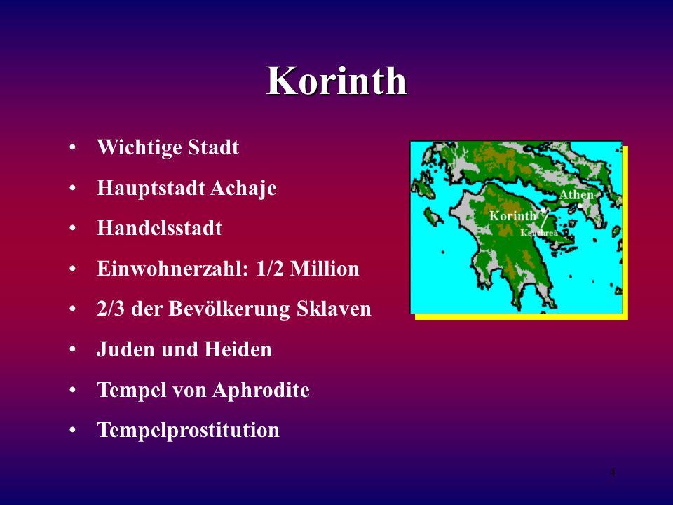 Korinth Wichtige Stadt Hauptstadt Achaje Handelsstadt
