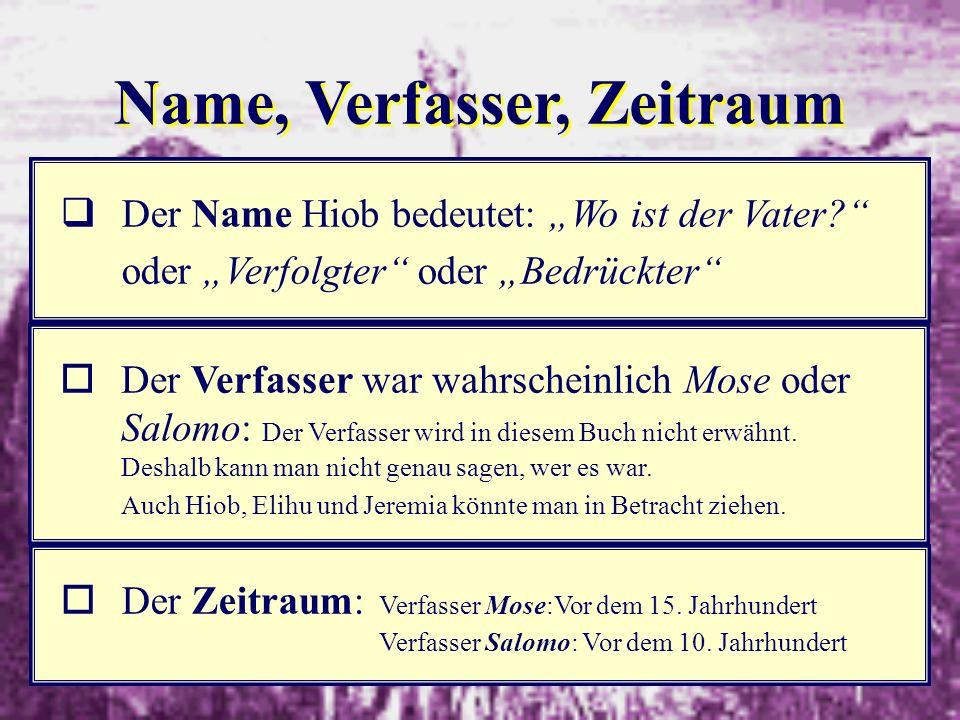 Name, Verfasser, Zeitraum