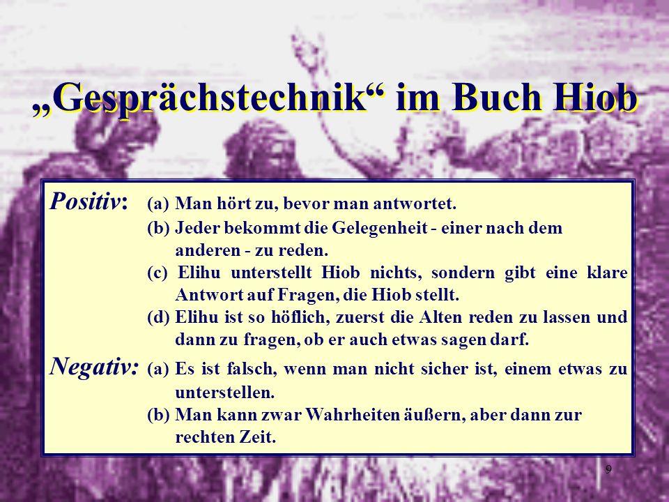 """""""Gesprächstechnik im Buch Hiob"""