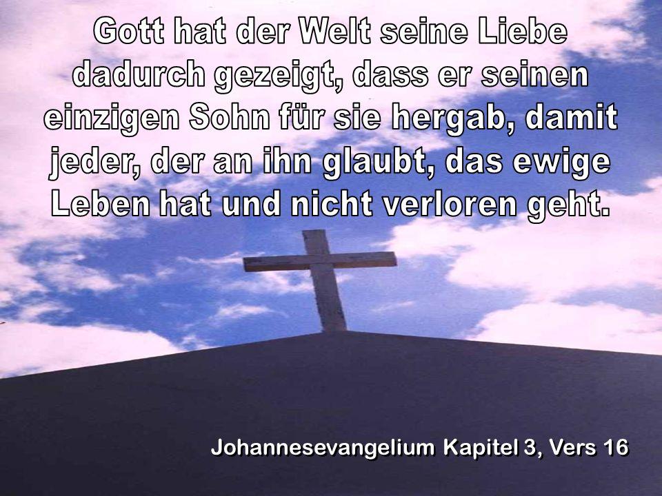 Gott hat der Welt seine Liebe dadurch gezeigt, dass er seinen
