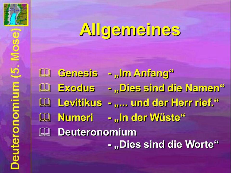 "Allgemeines Allgemeines Genesis - ""Im Anfang"