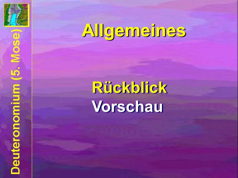 Allgemeines Allgemeines Rückblick Vorschau Rückblick Vorschau