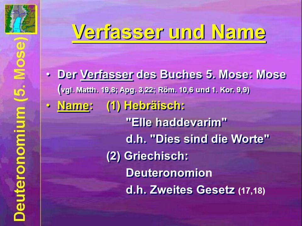 Verfasser und Name Verfasser und Name