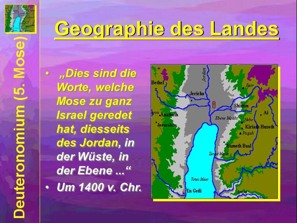 Geographie des Landes Geographie des Landes