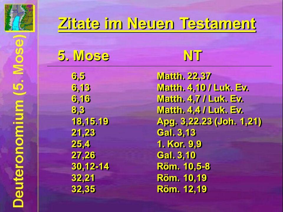Zitate im Neuen Testament Zitate im Neuen Testament