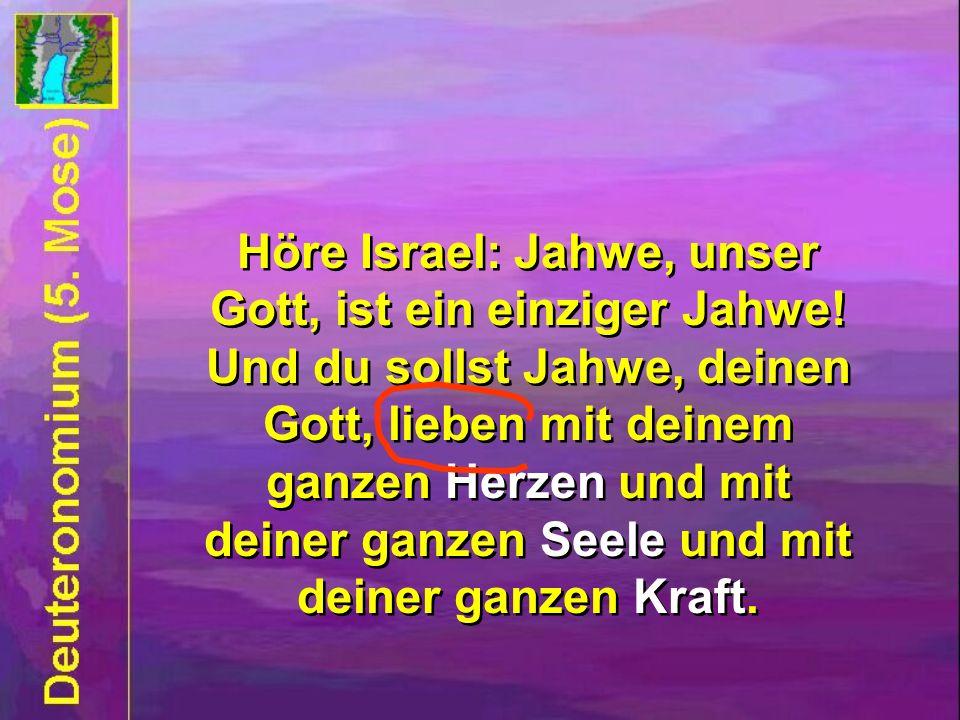 Höre Israel: Jahwe, unser Gott, ist ein einziger Jahwe