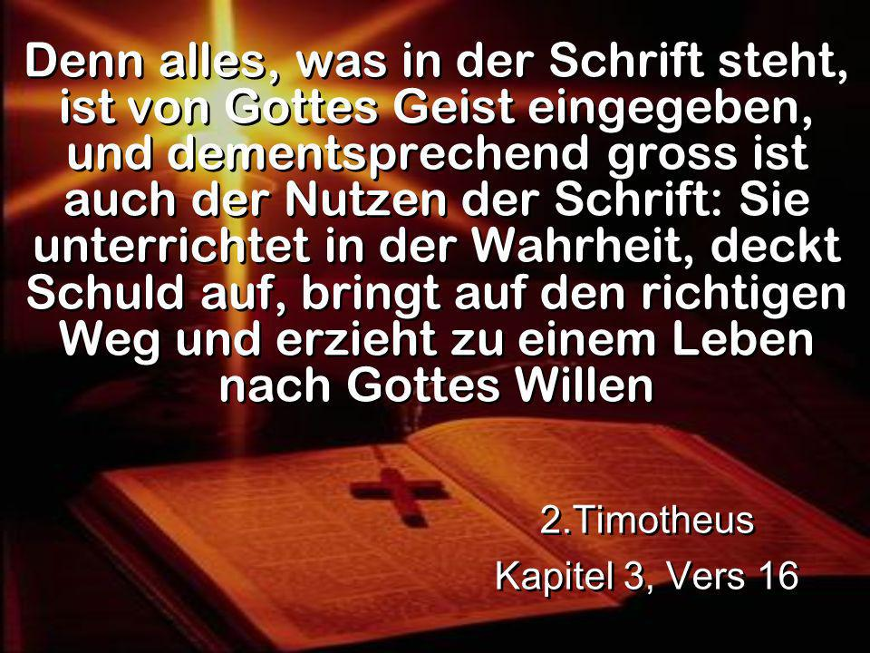 2.Timotheus Kapitel 3, Vers 16