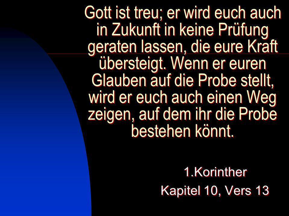 1.Korinther Kapitel 10, Vers 13