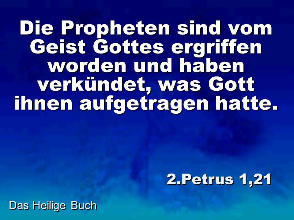 Die Propheten sind vom Geist Gottes ergriffen worden und haben verkündet, was Gott ihnen aufgetragen hatte.