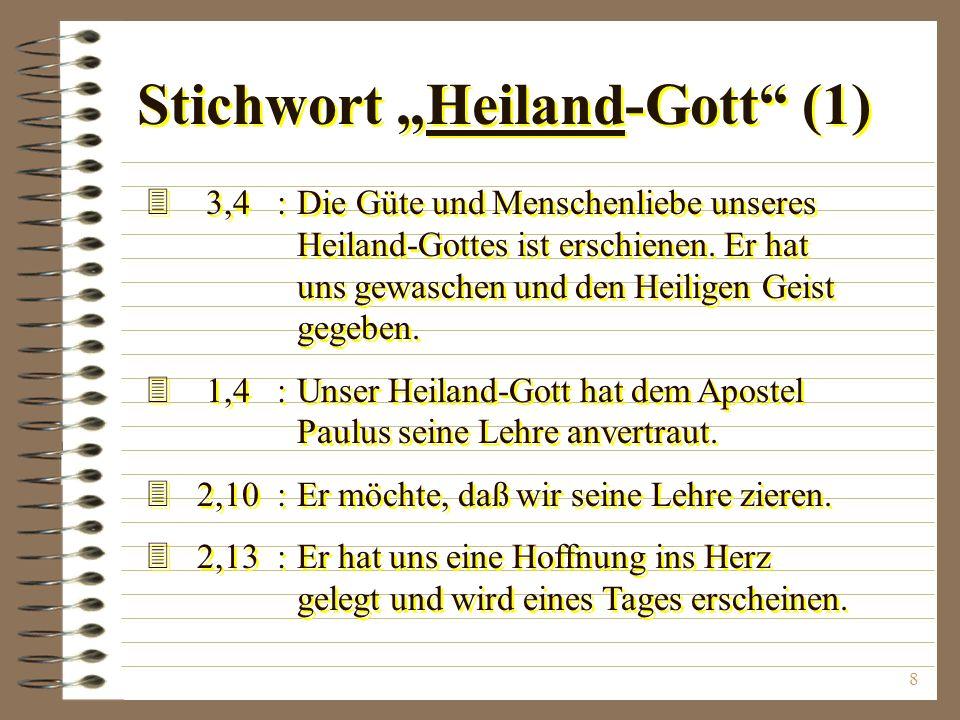 """Stichwort """"Heiland-Gott (1)"""