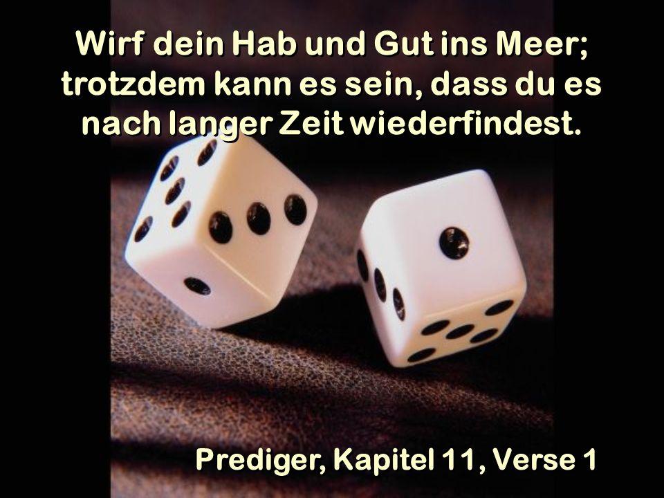 Prediger, Kapitel 11, Verse 1