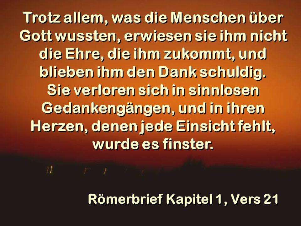 Römerbrief Kapitel 1, Vers 21